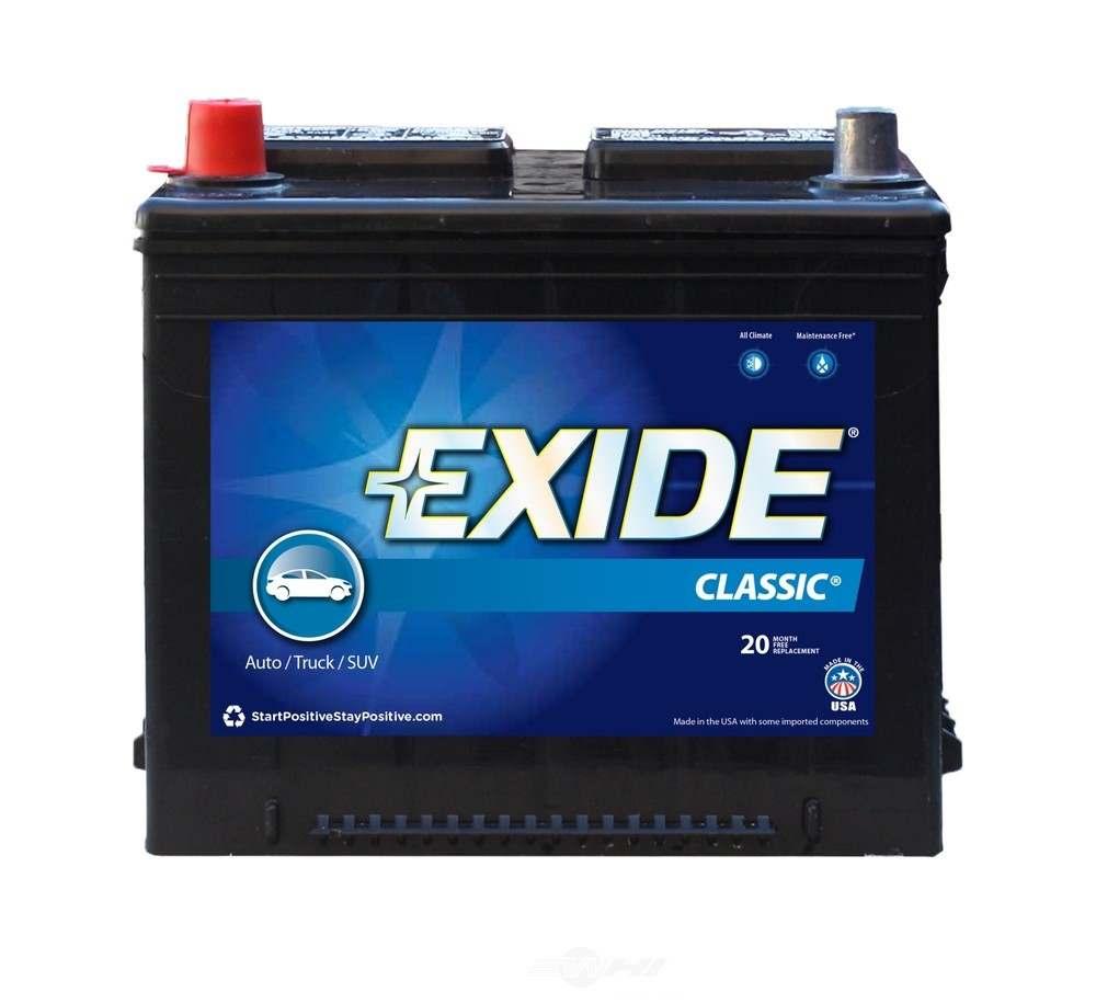 EXIDE BATTERIES OLD - Exide Classic - CCA: 525 Battery - EXB 26C