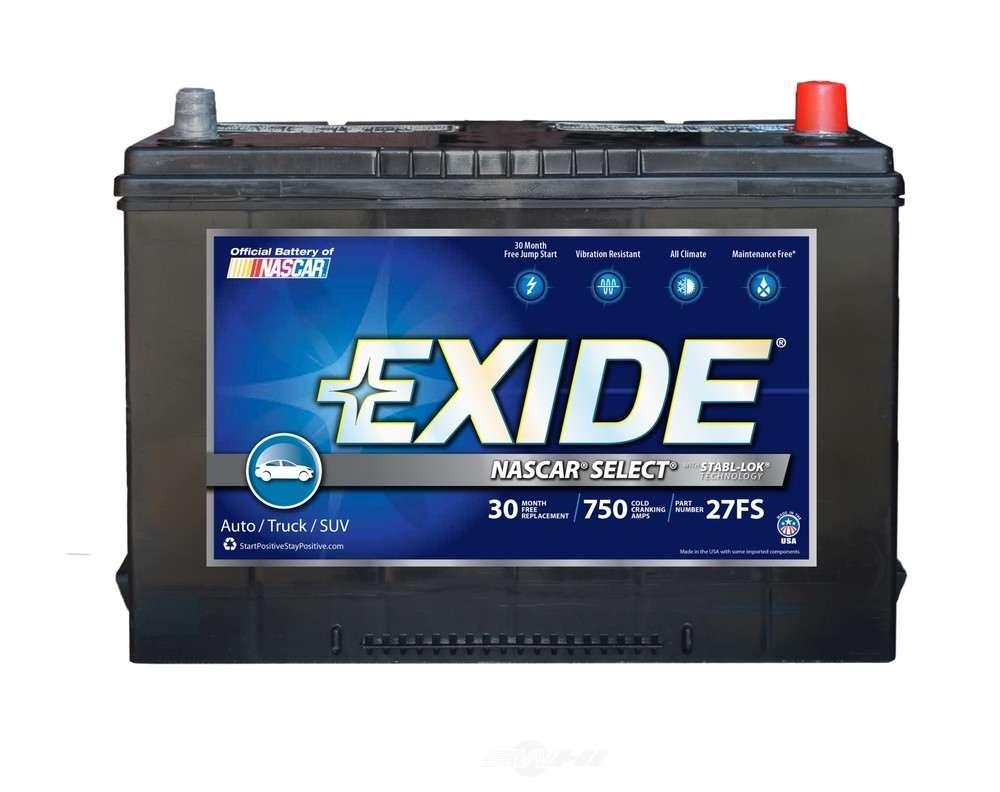 EXIDE BATTERIES OLD - Vehicle Battery - EXB 27FS