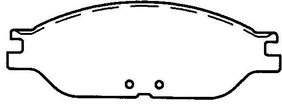 FEDERATED/NEWTEK AUTOMOTIVE - Ceramic Disc Brake Pad - FDN CD1089