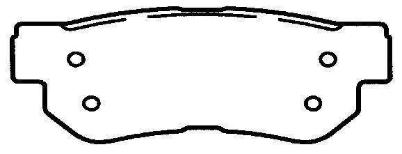 FEDERATED/NEWTEK AUTOMOTIVE - Ceramic Disc Brake Pad - FDN CD1090