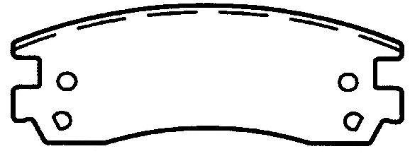FEDERATED/NEWTEK AUTOMOTIVE - Ceramic Disc Brake Pad - FDN CD1091