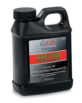 FJC, INC. - Synthetic PAG Oil w/ Fluorescent Leak Detection, 8 oz., 150 Viscosity, R - FJC 2498