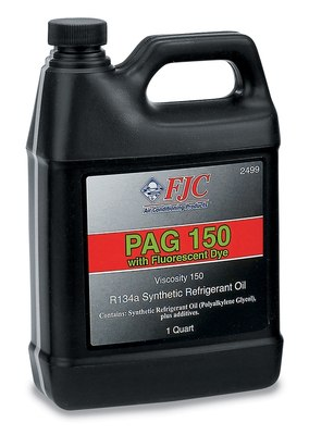 FJC, INC. - Synthetic PAG Oil w/ Fluorescent Leak Detection, Quart, 150 Viscosity, R - FJC 2499