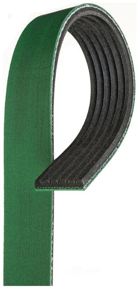 GATES - Fleetrunner Heavy Duty Micro-V Belt (Fan, Alternator, Power Steering and Air Conditioning) - GAT K061187HD