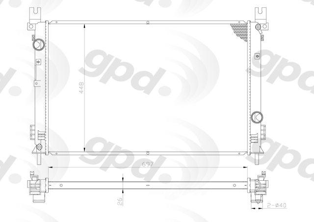 GLOBAL PARTS - Radiator - GBP 13025C