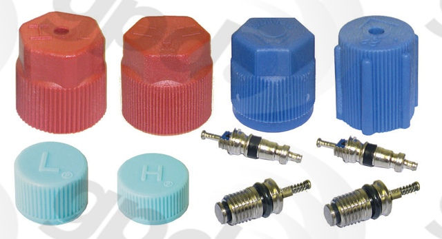 GLOBAL PARTS - A/C System Valve Core & Cap Kit - GBP 1311575