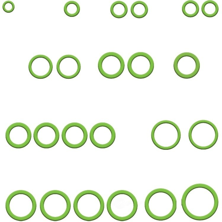 GLOBAL PARTS - A/C System O-Ring and Gasket Kit - GBP 1321414