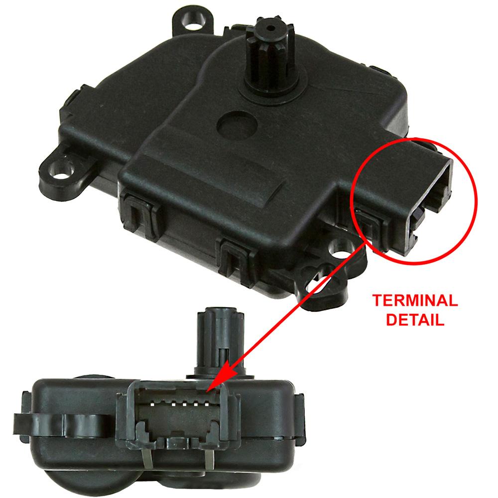 GLOBAL PARTS - HVAC Mode Door Actuator - GBP 1711913