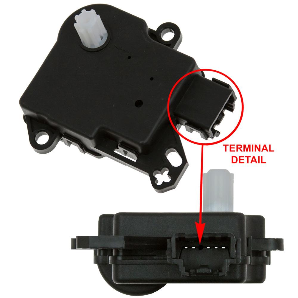 GLOBAL PARTS - HVAC Mode Door Actuator - GBP 1712296