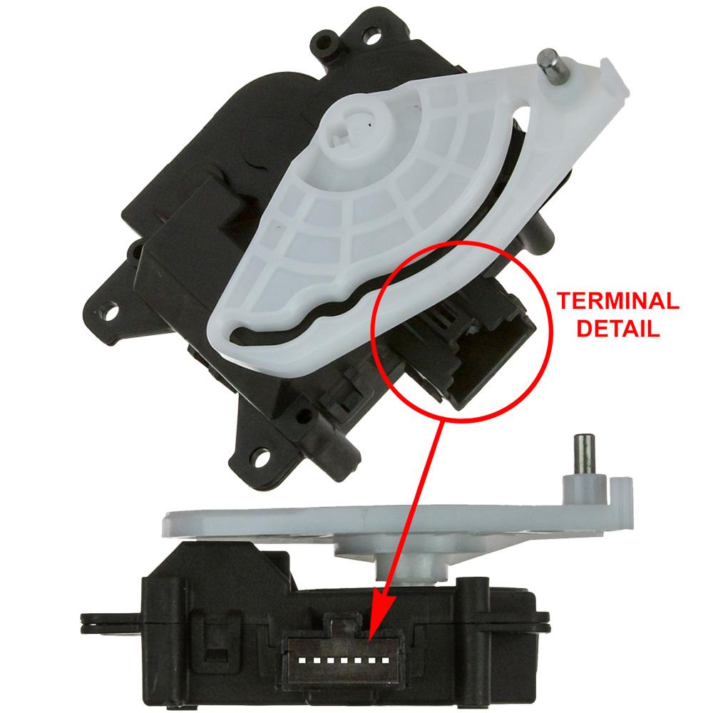 GLOBAL PARTS - Hvac Mode Door Actuator - GBP 1712334