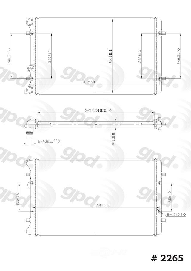 GLOBAL PARTS - Radiator - GBP 2265C