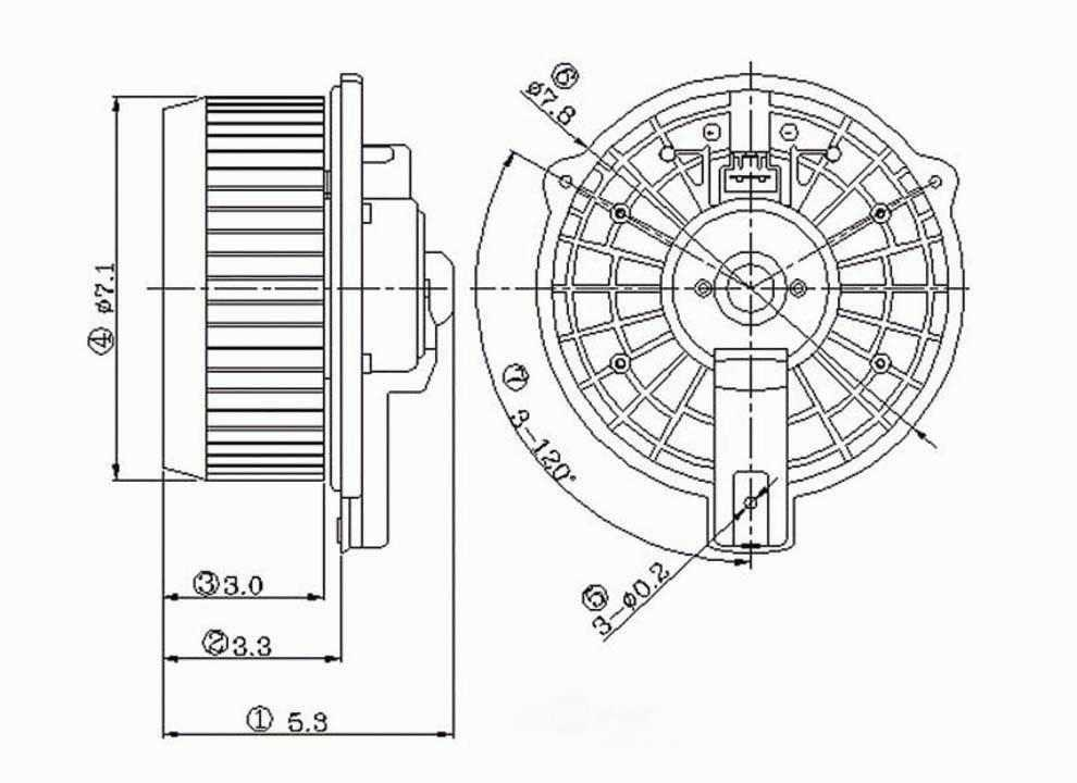 air conditioner fan motor parts diagram