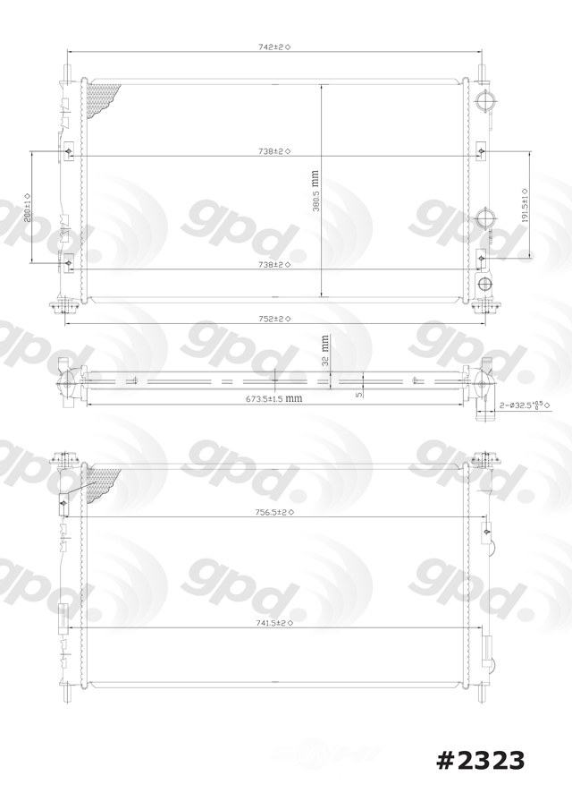 GLOBAL PARTS - Radiator - GBP 2323C