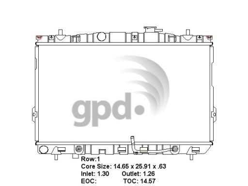 GLOBAL PARTS - Radiator - GBP 2387C