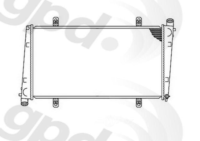 GLOBAL PARTS - Radiator - GBP 2400C