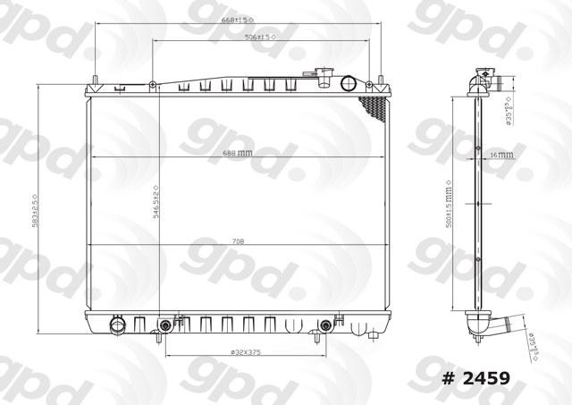 GLOBAL PARTS - Radiator - GBP 2459C