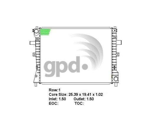 GLOBAL PARTS - Radiator - GBP 2610C