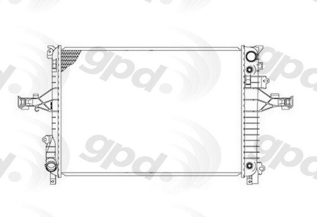 GLOBAL PARTS - Radiator - GBP 2805C