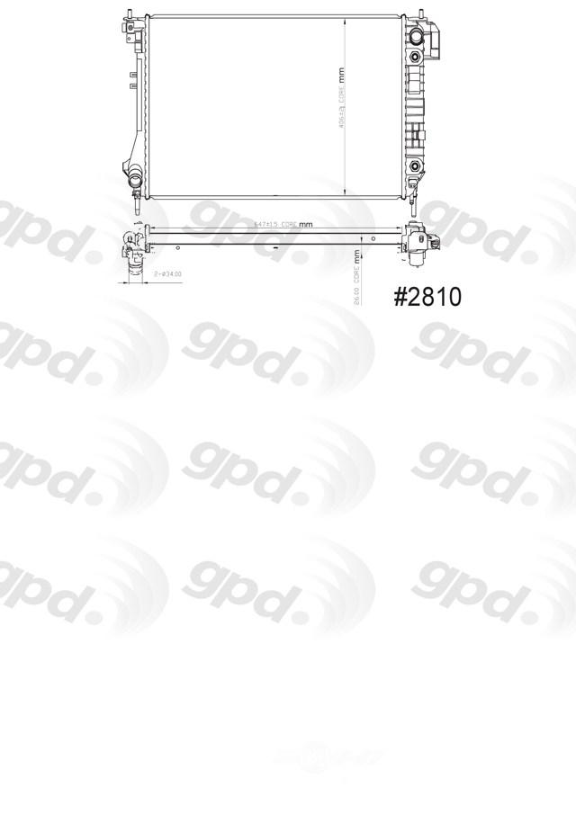GLOBAL PARTS - Radiator - GBP 2810C