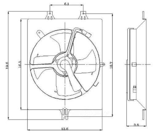 GLOBAL PARTS - Engine Cooling Fan Assembly - GBP 2811418