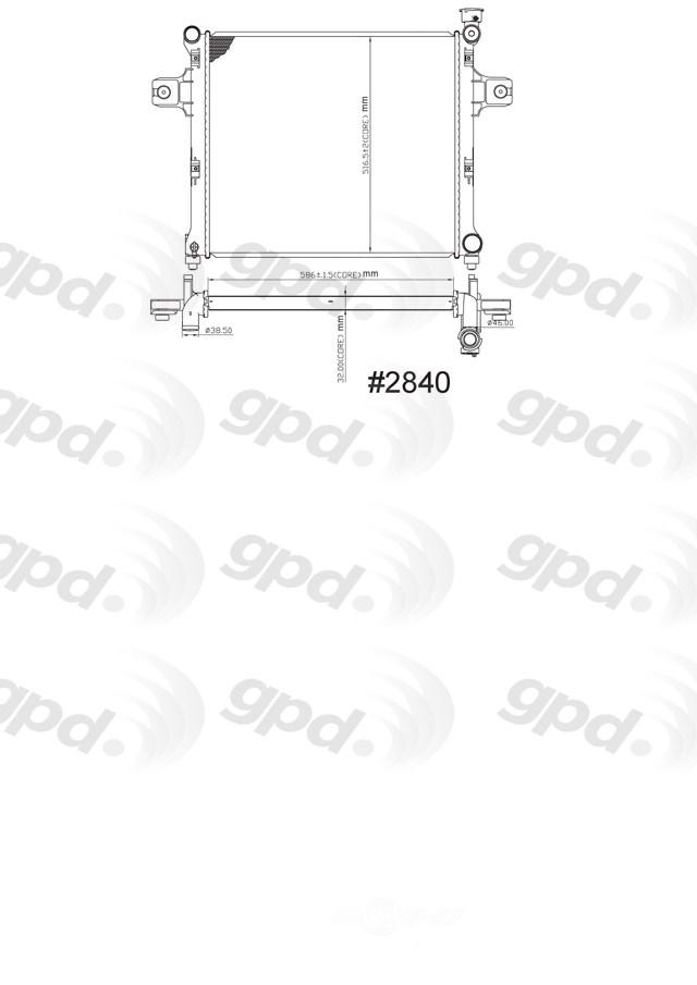 GLOBAL PARTS - Radiator - GBP 2840C