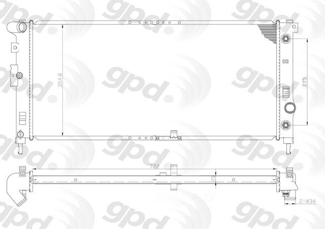GLOBAL PARTS - Radiator - GBP 2881C
