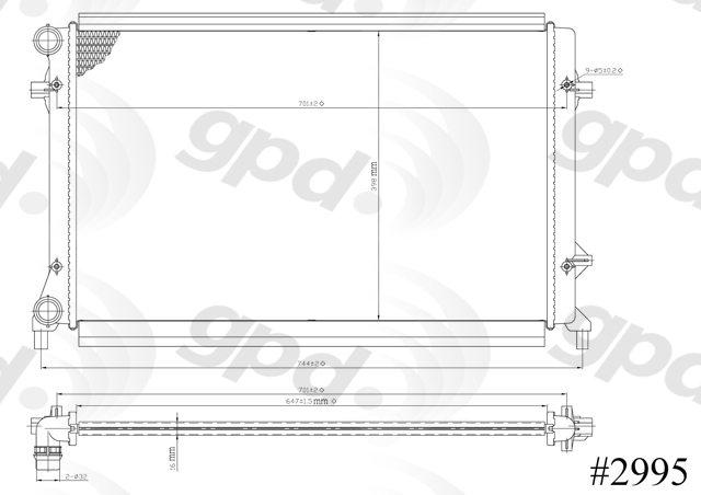 GLOBAL PARTS - Radiator - GBP 2995C
