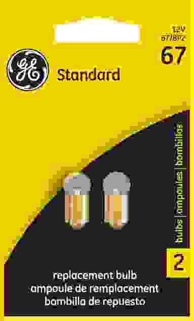 GE LIGHTING - License Plate Light Bulb - GEL 67/BP2