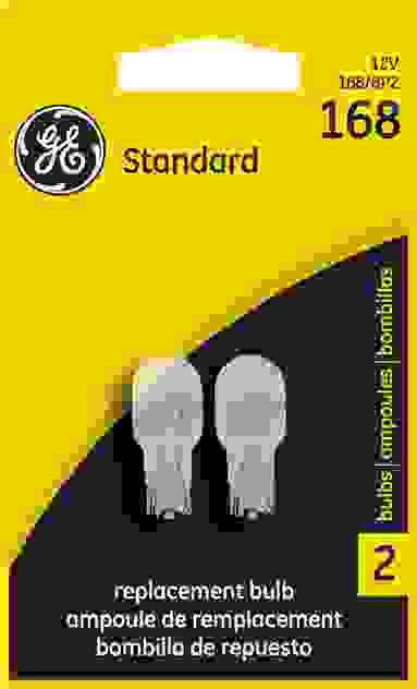 GE LIGHTING - License Plate Light Bulb - GEL 168/BP2