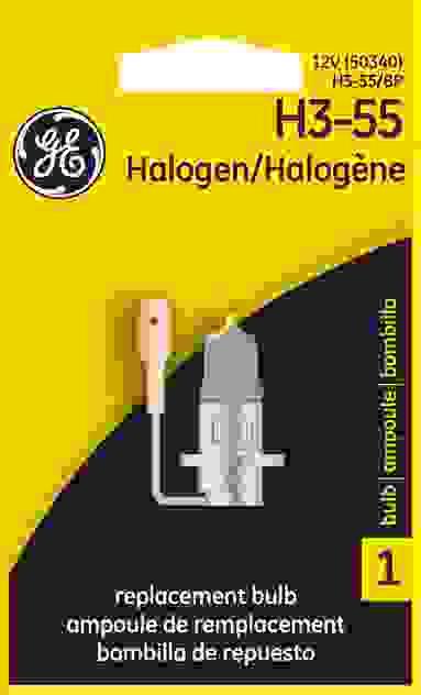 GE LIGHTING - Standard Lamp Single Blister Pack Fog Light Bulb - GEL H3-55/BP