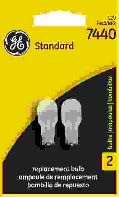 GE LIGHTING - Standard Tail Light Bulb Twin Blister Pack - GEL 7440/BP2