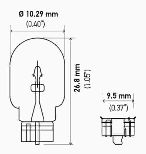HELLA - Hella Parking Light Bulb - HLA 2825BL