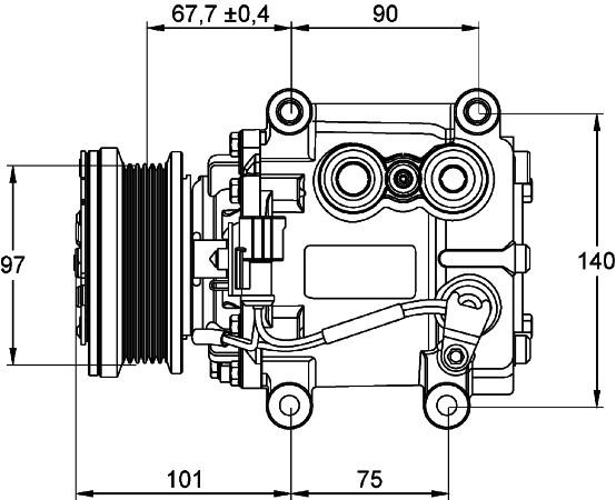 HELLA - Behr Hella Service A/C Compressor - HLA 351134221