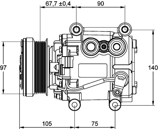 HELLA - Behr Hella Service A/C Compressor - HLA 351134491