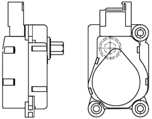 HELLA - Behr Hella Service A/C Vacuum Actuator - HLA 351329651