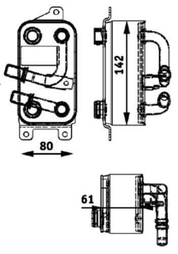 HELLA - Behr Hella Service Auto Trans Oil Cooler Assembly - HLA 376726191