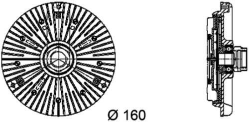 HELLA - Behr Hella Service Engine Cooling Fan Clutch - HLA 376734451