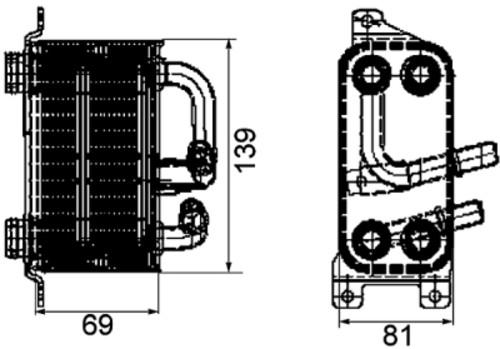 HELLA - Behr Hella Service Engine Oil Cooler - HLA 376745751