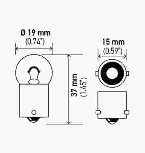 HELLA - Hella Tail Light Bulb - HLA 5007
