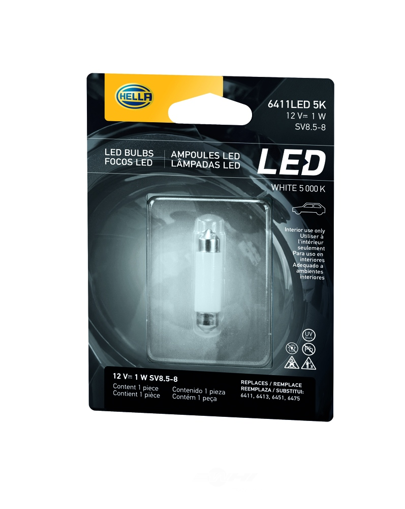 HELLA - HELLA - LED Miniature Bulb with Color Temperature of 5000K. For Cooler A - HLA 6411LED 5K
