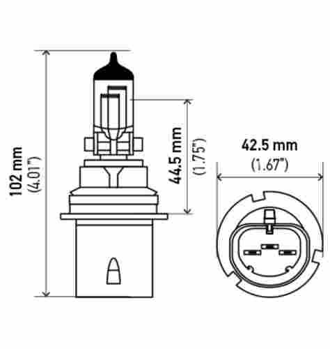 HELLA - Hella Headlight Bulb - HLA 9004LL
