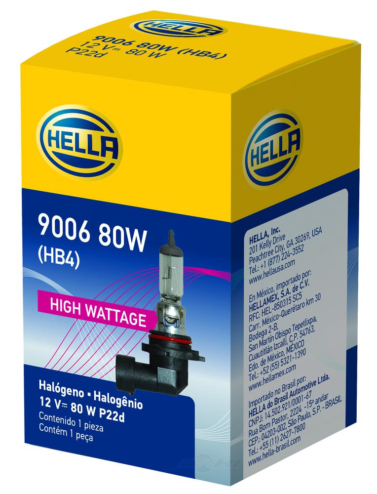HELLA - Hella Fog Light Bulb (Front) - HLA 9006 80W