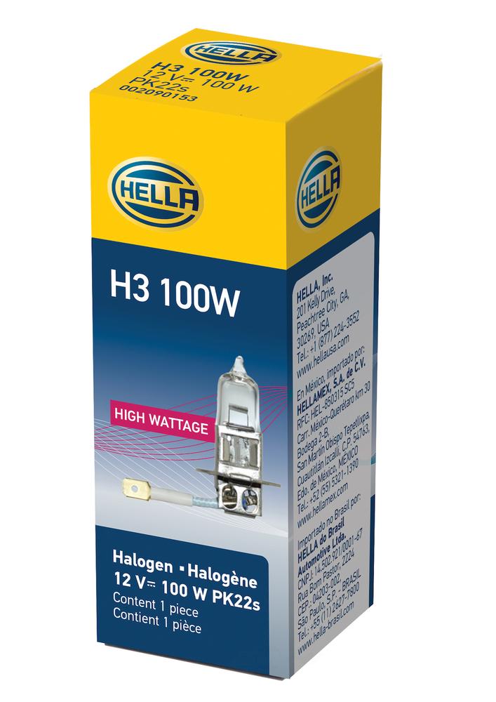 HELLA - Hella Fog Light Bulb - HLA H3 100W