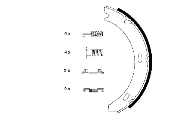 HELLA-PAGID - Hella Pagid Parking Brake Shoe Set - HPD 355050301