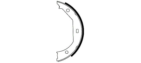 HELLA-PAGID - Hella Pagid Parking Brake Shoe Set - HPD 355050381