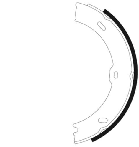 HELLA-PAGID - Hella Pagid Parking Brake Shoe Set - HPD 355050761