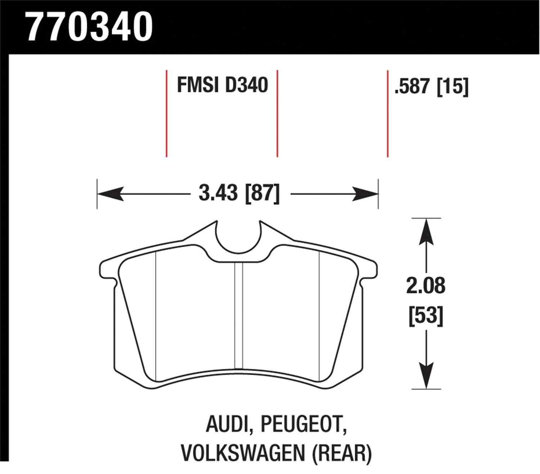 HAWK PERFORMANCE - Premium OES Disc Brake Pad (Rear) - HWK 770340
