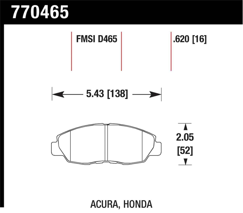 HAWK PERFORMANCE - Premium OES Disc Brake Pad (Front) - HWK 770465