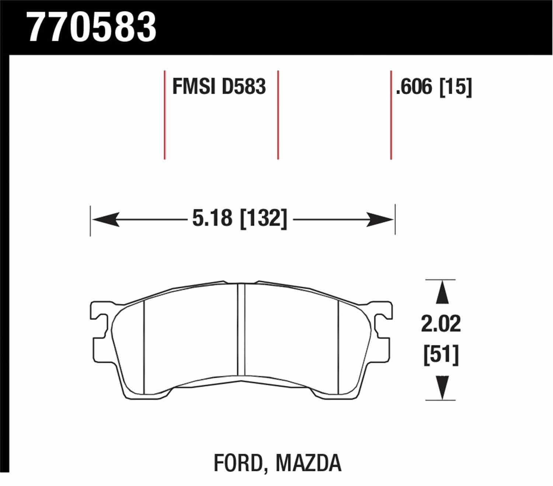 HAWK PERFORMANCE - Premium OES Disc Brake Pad (Front) - HWK 770583