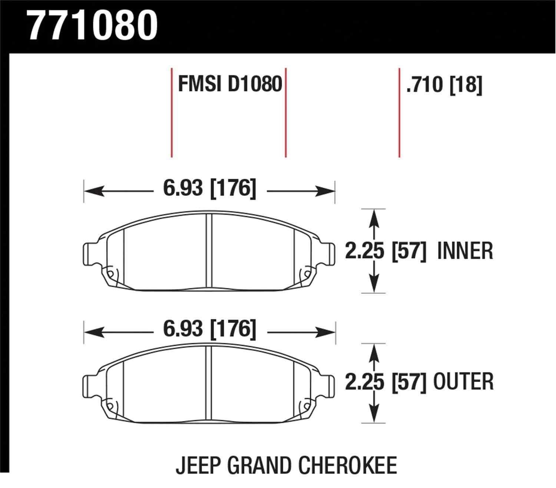 HAWK PERFORMANCE - Premium OES Disc Brake Pad (Front) - HWK 770369